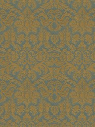 Etro Leucio Printed Wallpaper Grey Yellow