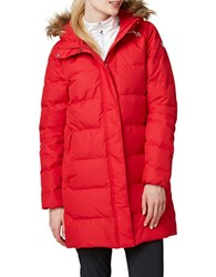 Helly Hansen Faux Fur Trimmed Long Sleeve Parka Red