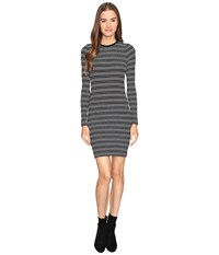Atm Anthony Thomas Melillo Engineered Stripe Dress Black White Stripe Women's Dress