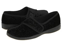 Foamtreads Jewel Black Velour Women's Slippers