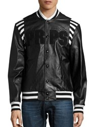 Prps Metallurgy Leather Bomber Jacket Black