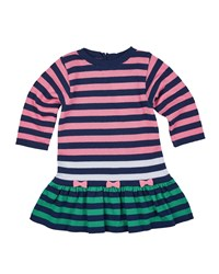 Florence Eiseman Long Sleeve Striped Fit And Flare Sweaterdress Navy Multicolor Size 6 18 Months Size 12M Multi Colors