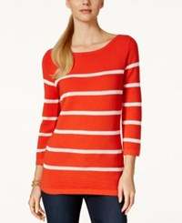 Charter Club Crochet Stripe Sweater Only At Macy's