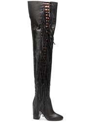 Laurence Dacade Tied Thigh High Boots Black