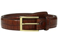 Torino Leather Co. 35Mm Gator Grain Embossed Calf Cognac Belts Tan