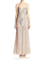 Basix Black Label Sequined Slip Gown Pink