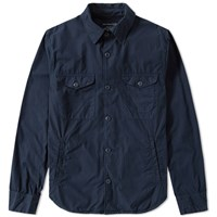 Save Khaki Multi Pocket Shirt Jacket Blue