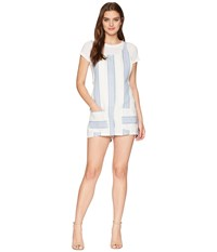 Bishop Young Gracie Stripe Romper Blue White Stripe Jumpsuit And Rompers One Piece Navy