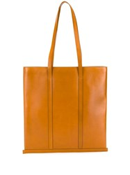Building Block Trimmed Tote Bag Brown