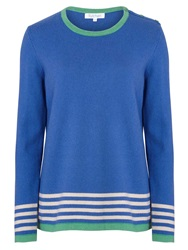 Tulchan Stripe Border Jumper Blue