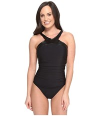Magicsuit Leather Bonnie Underwire One Piece Swimsuit Black Women's Swimsuits One Piece