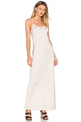 Alexander Wang Satin Slip Dress Beige