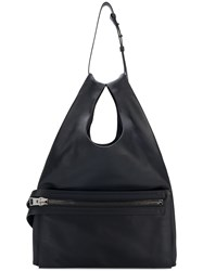 Tom Ford Zip Front Large Tote Bag Black