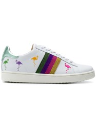 Moa Master Of Arts Striped Flamingo Sneakers White