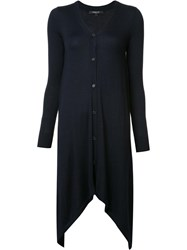 Derek Lam Long Asymmetric Cardigan Blue