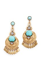 Elizabeth Cole Rosenta Earrings Golden