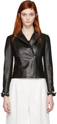 Fendi Black Leather Studded Jacket