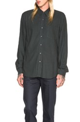 Our Legacy Classic Silk Shirt In Green
