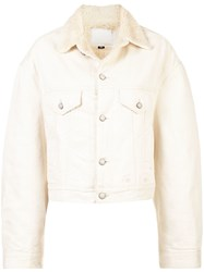 R 13 R13 Shearling Lined Jacket White