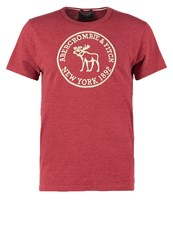 Abercrombie And Fitch Heritage Core Muscle Fit Print Tshirt Red Bordeaux