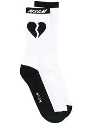 Msgm Heartbreak Socks Black