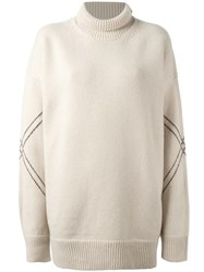 Studio Nicholson 'Jacobsen' Roll Neck Jumper Nude Neutrals