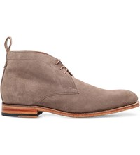 Grenson Marcus Suede Desert Boots Taupe