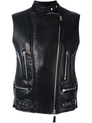 Ermanno Scervino Sleeveless Biker Jacket Black