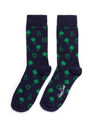 Happy Socks 'Lucky' Horseshoe And Clover Multi Colour