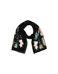 Caractere Oblong Scarves Black