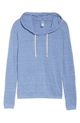 Alternative Apparel Women's Classic Pullover Hoodie Eco Pacific Blue