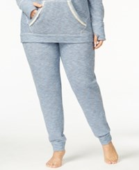 Lucky Brand Plus Size Brushed Terry Pajama Pants Blue