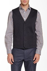 Perry Ellis Knit Sweater Vest Black