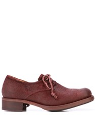 Cherevichkiotvichki Distressed Lace Up Shoes Red