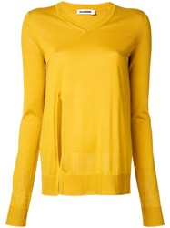 Jil Sander Side Slit Jumper Yellow Orange