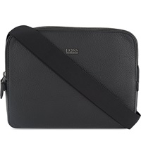 Hugo Boss Zipped Cross Body Bag Black