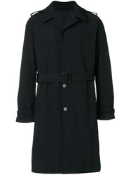 Aspesi Single Breasted Trench Coat Cotton Polyamide Polyester Xl Blue
