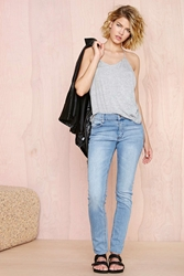 Nasty Gal Cheap Monday Tight Skinny Jeans Stonewash Blue