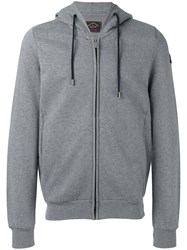 Paul And Shark Zipped Hoodie Grey