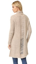 Current Elliott The Long Slash Pocket Cardigan Camel