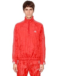 Adidas By Alexander Wang Wrinkled Tech Windbreaker Track Jacket Orange