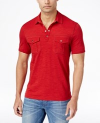 Inc International Concepts Men's Stenta Two Pocket Polo Only At Macy's Banner Red