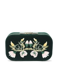 Wolf Floral Jewellery Box Forest Green