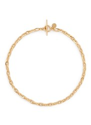 Philippe Audibert Oval Chain Necklace Metallic