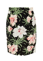 Hallhuber Skirt With Exotic Floral Print Multi Coloured Multi Coloured