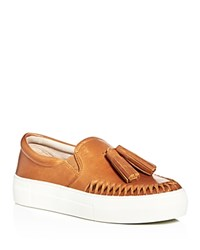 Vince Camuto Kayleena Tassel Slip On Platform Sneakers Brown