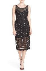 Women's Tracy Reese Sequin Applique Woven Midi Dress