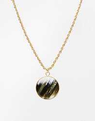 Gogo Philip Disc Necklace Gold
