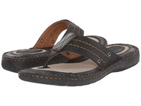 Born Jonah Black Full Grain Leather Men's Sandals