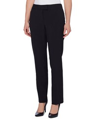 Tahari By Arthur S. Levine Straight Fit Solid Pants Black